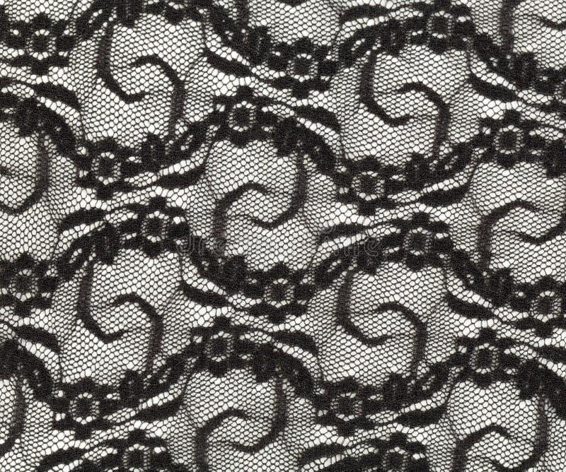 Schwarze Spitze mit einem feinen Muster lizenzfreie stockfotos