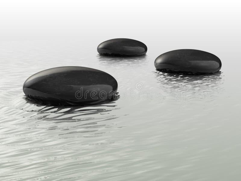 Schwarze Steine stock abbildung