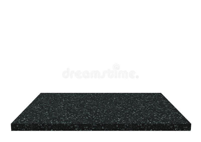 Schwarze Steintabelle lokalisiert lizenzfreies stockbild