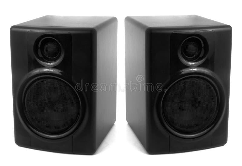 Schwarze Stereolautsprecher lizenzfreies stockfoto