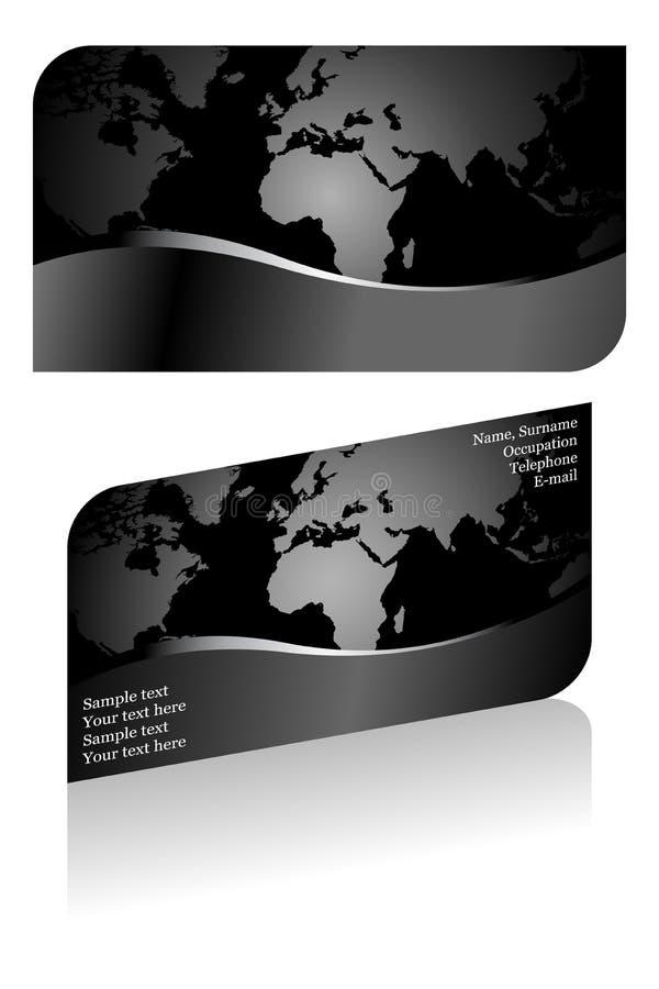 Schwarze stilvolle Visitenkarte lizenzfreie abbildung