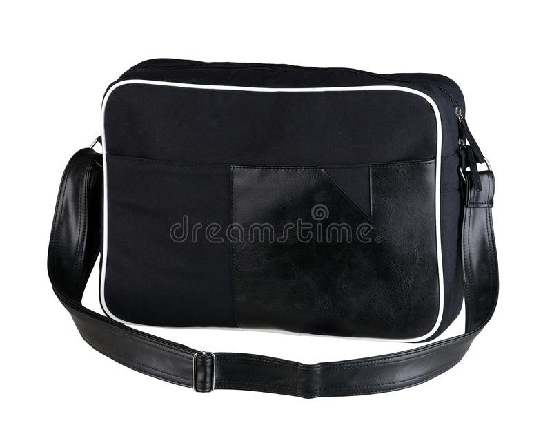 Schwarze Stofflaptoptasche lizenzfreie stockfotografie