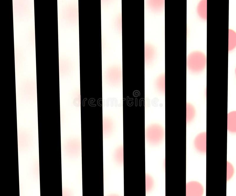 Schwarze Streifen, rote Polkapunkte stockfotografie