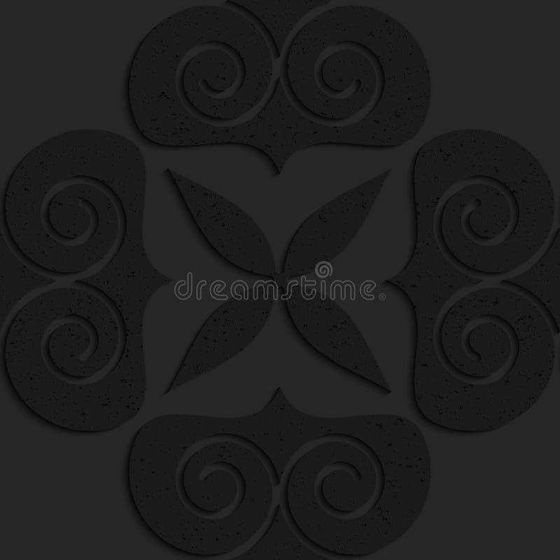 Schwarze strukturierte große des Körpers Plastikherzen swirly lizenzfreie abbildung