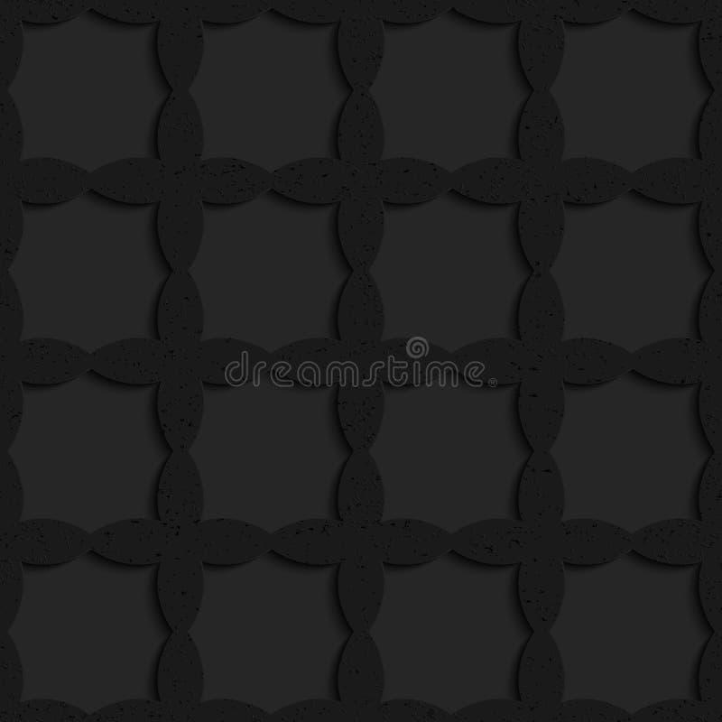 Schwarze strukturierte Plastiküberfahrtovale, die Gitter bilden vektor abbildung