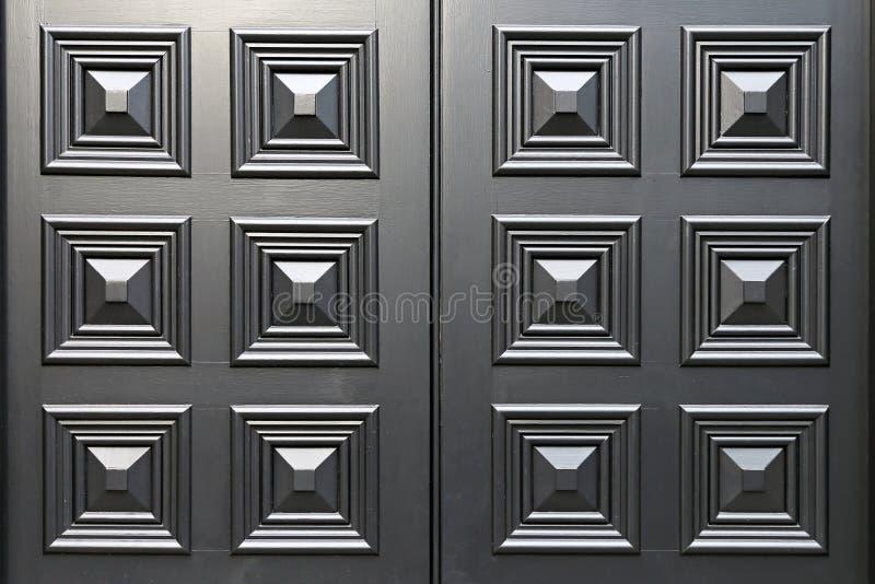 Schwarze Türplatte lizenzfreies stockbild