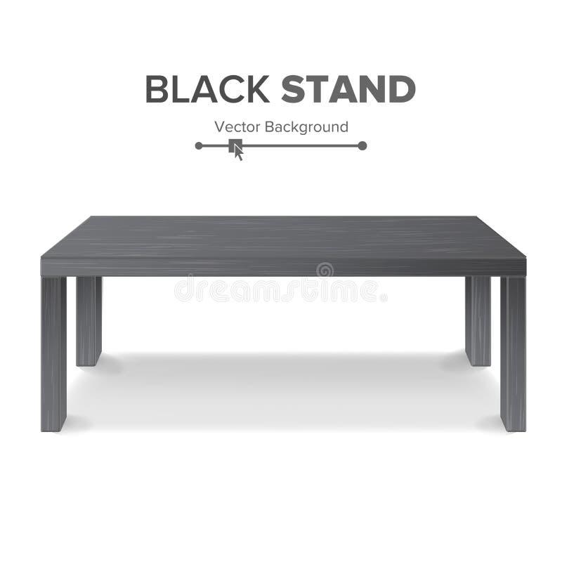 Schwarze Tabelle, Stand-Vektor Schablone des Stand-3D für Gegenstand-Darstellung Realistische vektorabbildung vektor abbildung