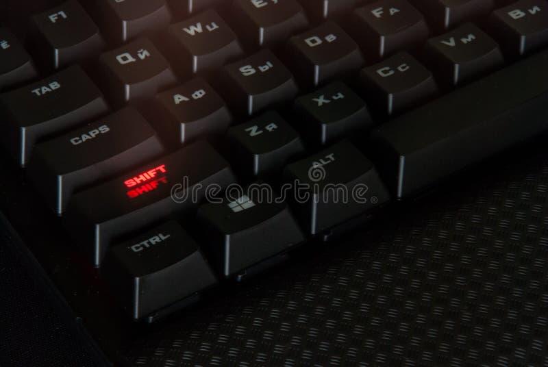 Schwarze Tastaturen, Technologie Tasten stockfoto