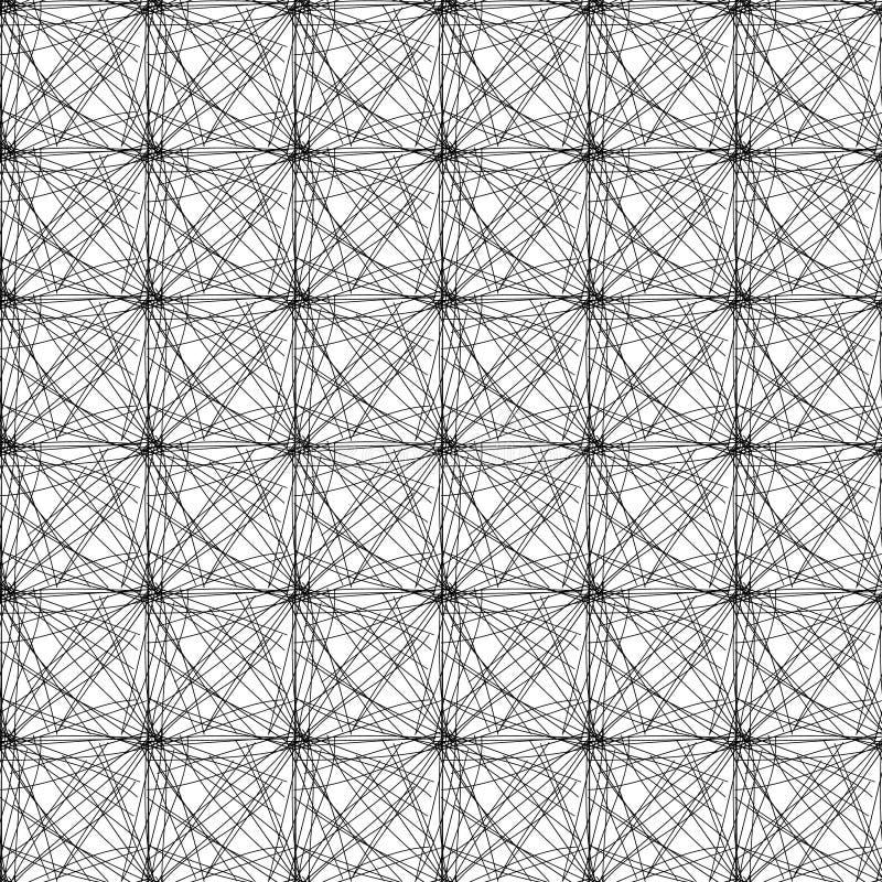 Schwarze Threads geknotet lizenzfreie abbildung