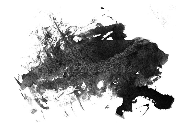 Schwarze Tinte geschmiert auf Weiß vektor abbildung