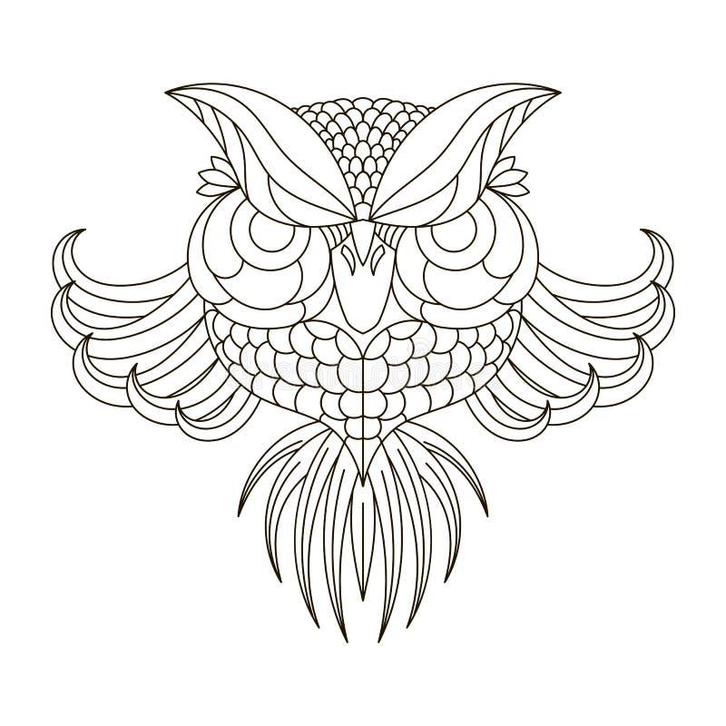 Schwarze Tintenzeichnung vögel lizenzfreie abbildung
