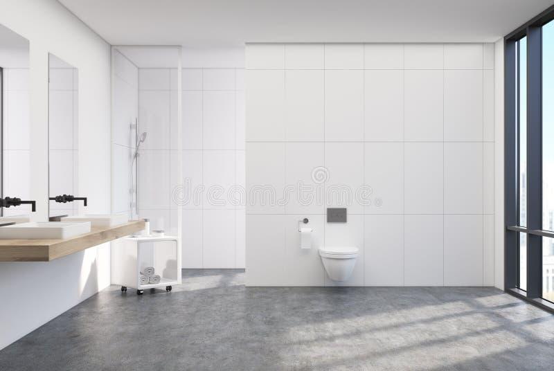 Schwarze Toilette, Dusche, Wanne stock abbildung