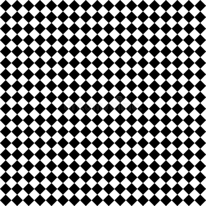 Schwarze u. weiße Diamant-Checks vektor abbildung