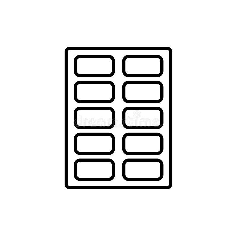Schwarze u. weiße Vektorillustration des Kalligraphiefarbenkastens zeile vektor abbildung
