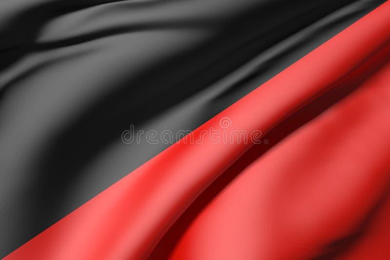 Schwarze und rote Seide stock abbildung