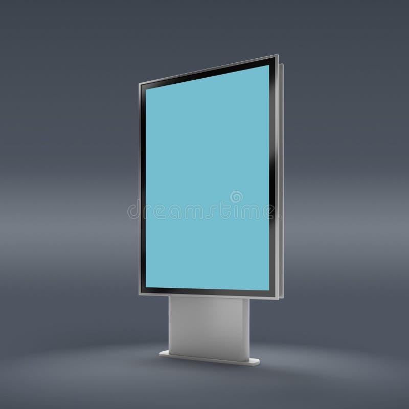 Schwarze Vertikale gedrehter Monitormodell-Grauhintergrund lizenzfreie abbildung