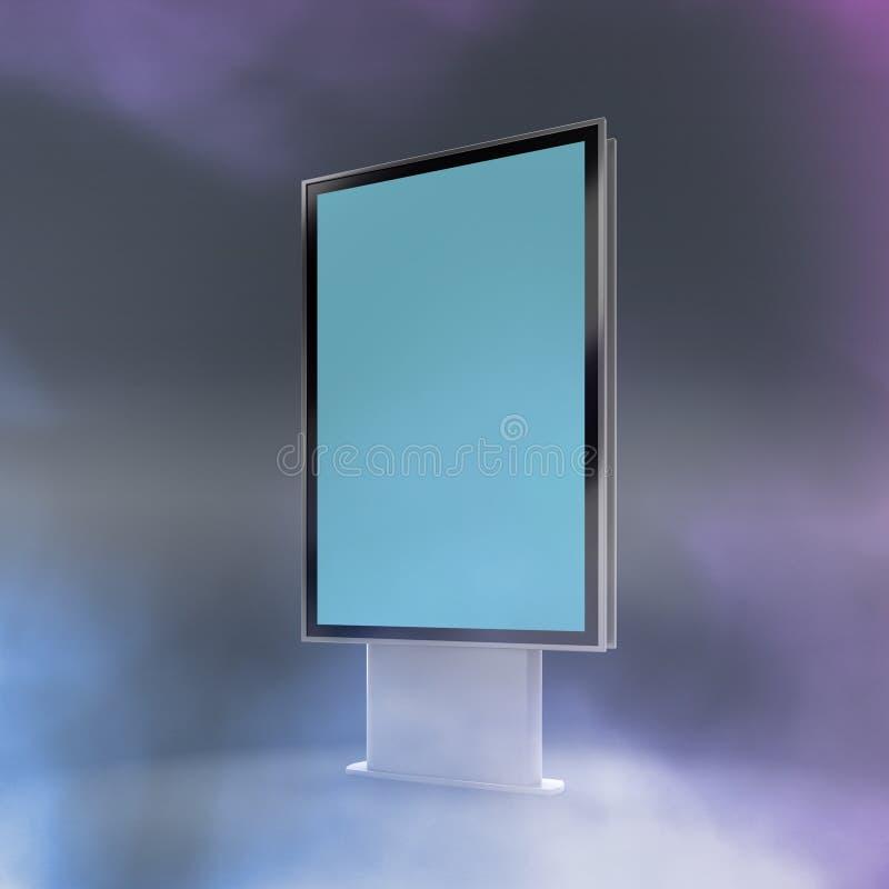 Schwarze Vertikale gedrehter Monitormodell-Grauhintergrund stock abbildung