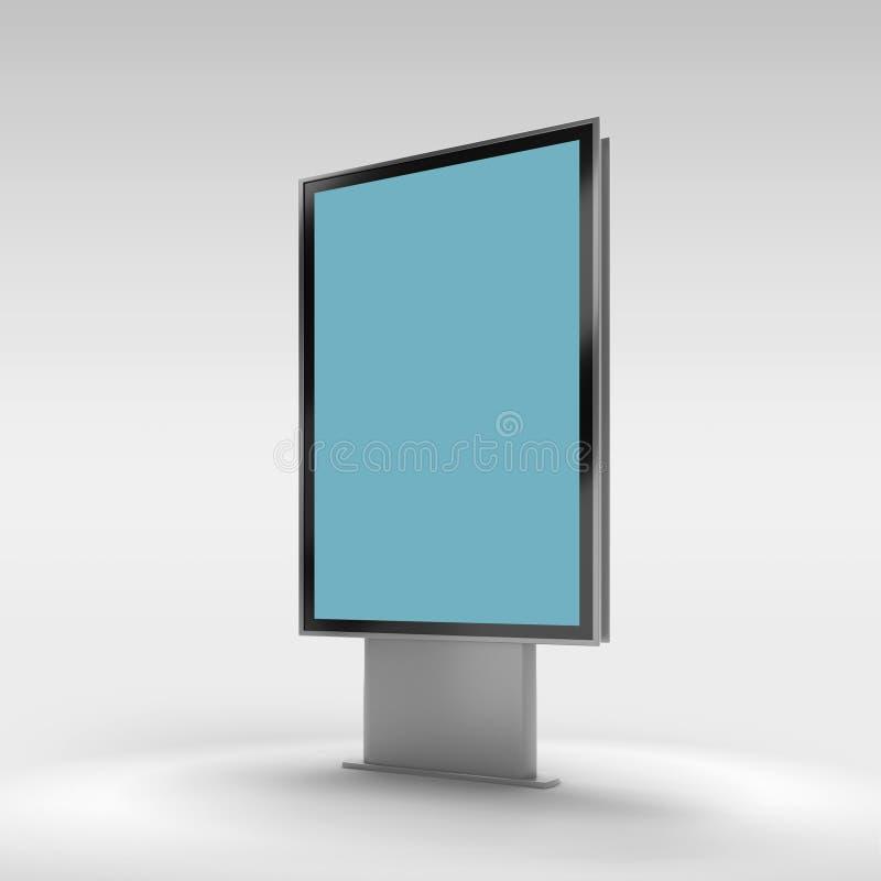 Schwarze Vertikale gedrehtes Monitormodell vektor abbildung