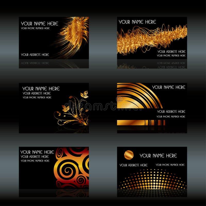 Schwarze Visitenkarten lizenzfreie abbildung