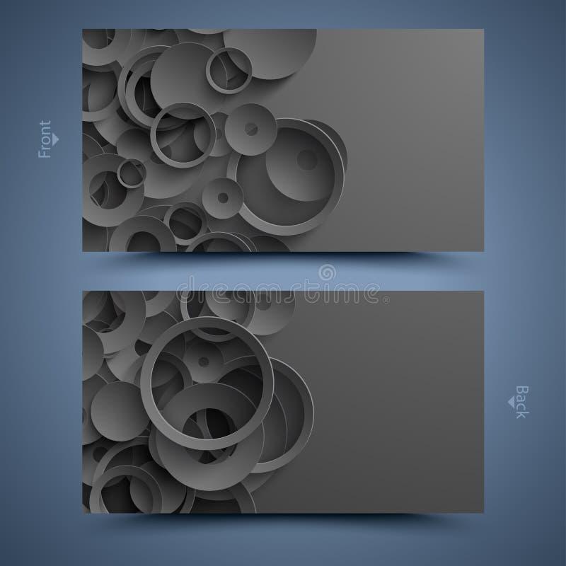 Schwarze Visitenkarteschablone. Abstrakter Hintergrund vektor abbildung