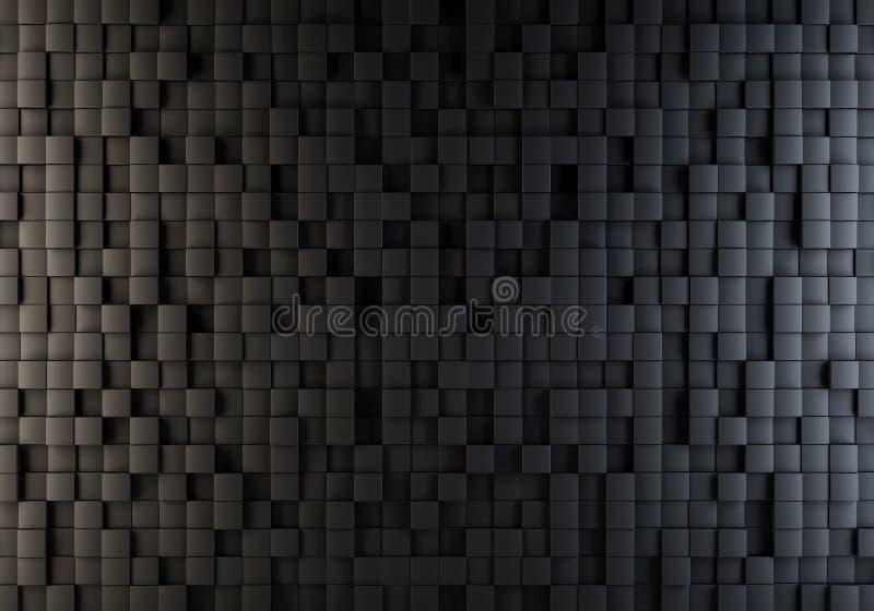 Schwarze Würfel schoben nach dem Zufall Hintergrund hinaus lizenzfreie abbildung