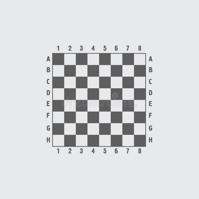 Schwarze weiße flache Schachbrett-Vektorikone lizenzfreie abbildung