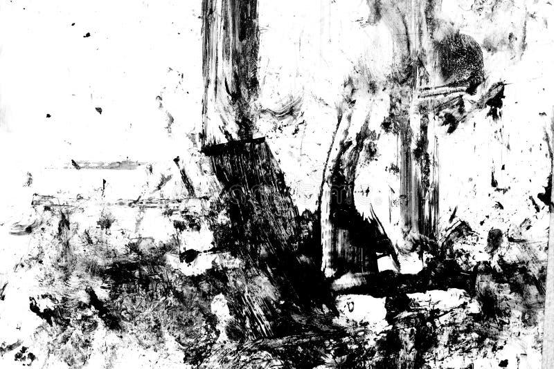 Schwarze weiße grunge Tintenbeschaffenheit vektor abbildung