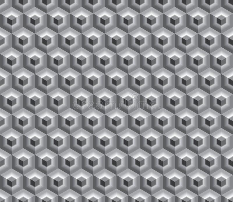 Schwarze weiße hexa Würfel lizenzfreie abbildung