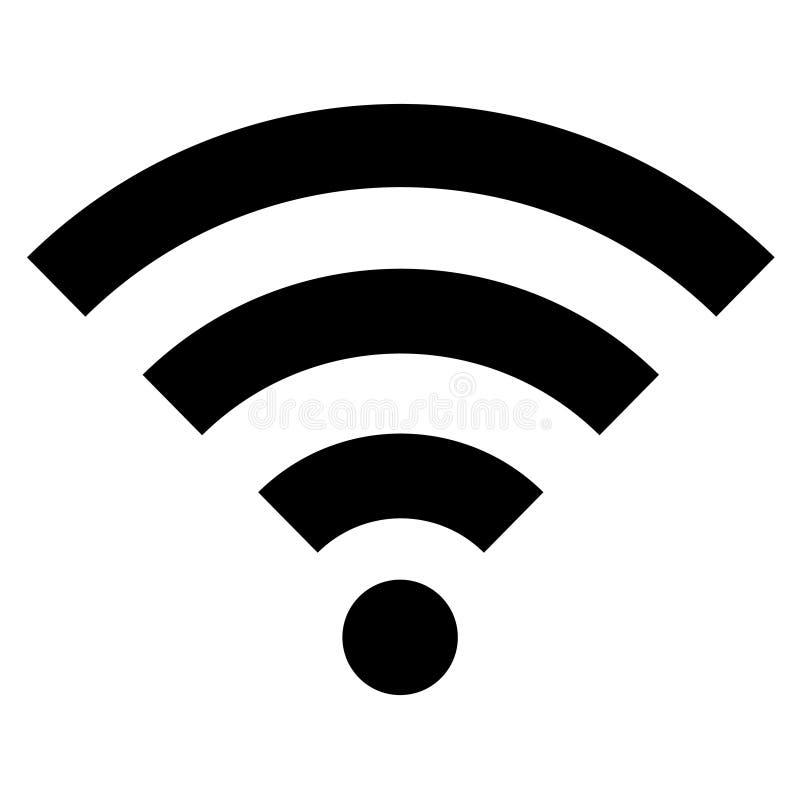 Schwarze wifi Symbolikone lokalisiert auf einem weißen Hintergrund lizenzfreie stockfotos