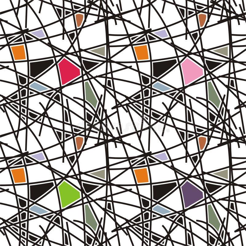 schwarze Zeilen mit geometrischem Muster lizenzfreie abbildung