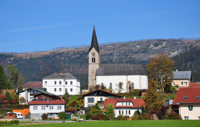 Schwarzenberg am Boehmerwald, Австрия стоковые изображения rf