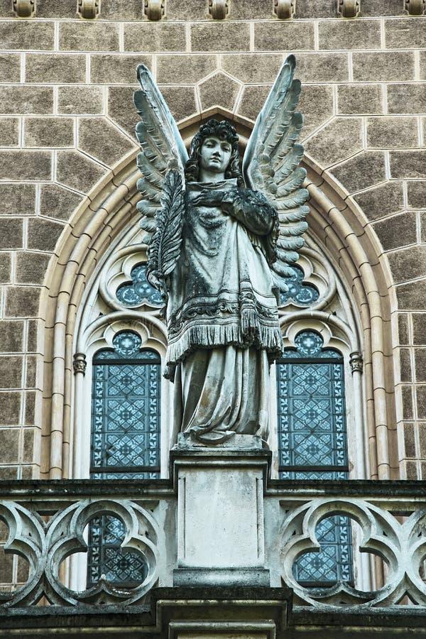 Schwarzenberg tomb -detail,statue of an angel. stock image