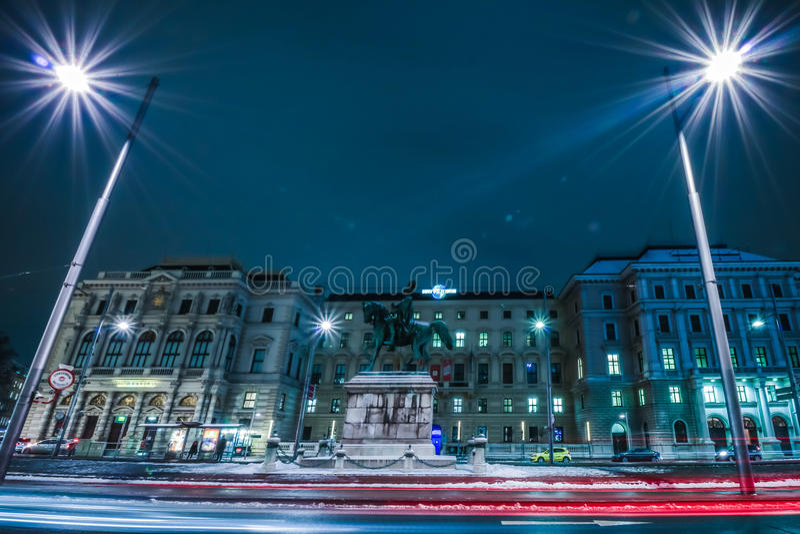 Schwarzenbergplatz - Quadrat von Schwarzenberg in Wien lizenzfreies stockfoto