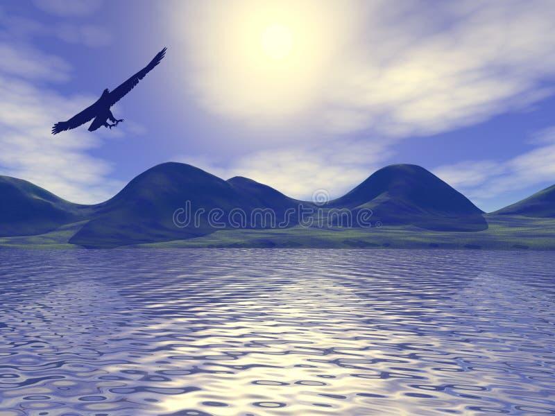 Download Schwarzer Adler stock abbildung. Illustration von stange - 263388