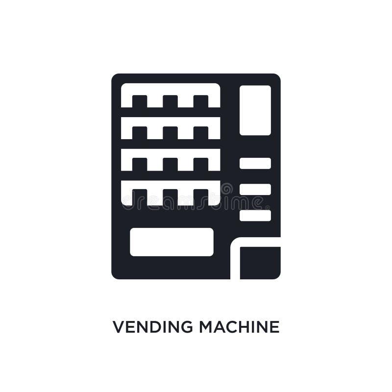 schwarzer Automat lokalisierte Vektorikone einfache Elementillustration von den Hotel- und Restaurantkonzeptvektorikonen verkauf stock abbildung