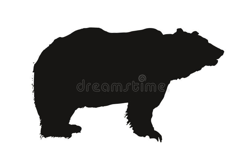 Schwarzer Bärn-Tiervektor Logo Symbol lizenzfreie abbildung