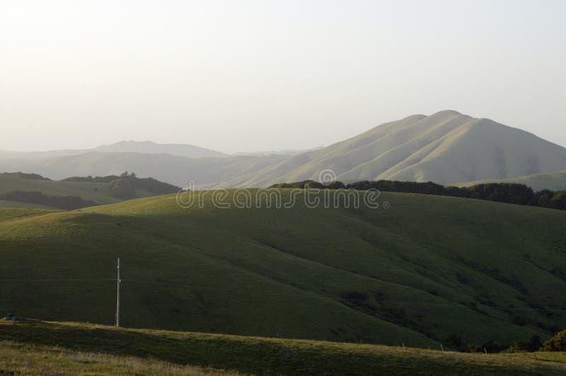 Schwarzer Berg von Bolinas Ridge stockfotos