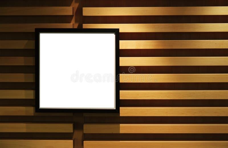 Download Schwarzer Bilderrahmen Auf Wand. Stockbild - Bild von fotographie, gestreift: 12200909