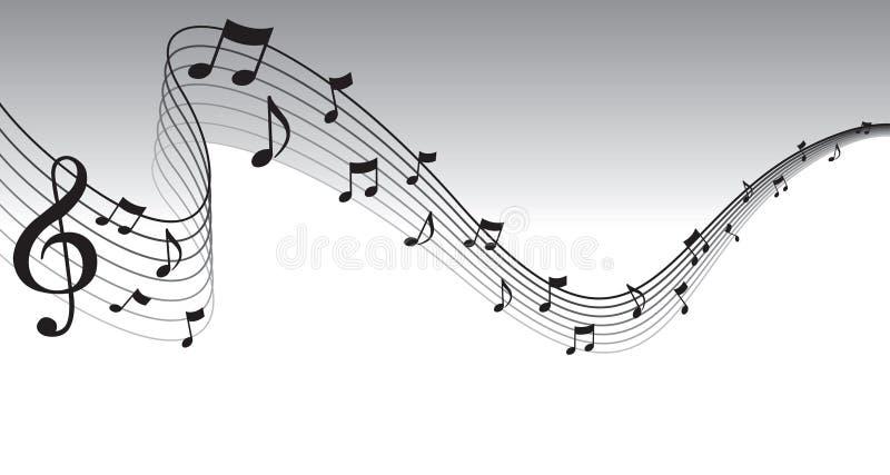 Schwarzer Blatt-Musik-Seiten-Rand lizenzfreie abbildung