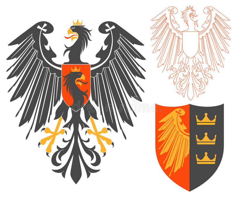 Schwarzer Eagle Illustration vektor abbildung