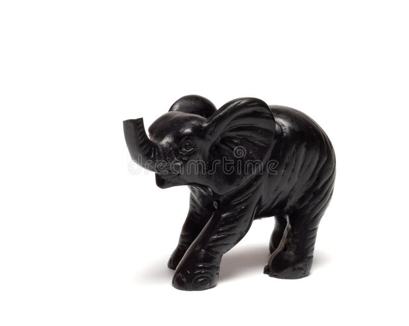 Schwarzer Elefant stockfotografie