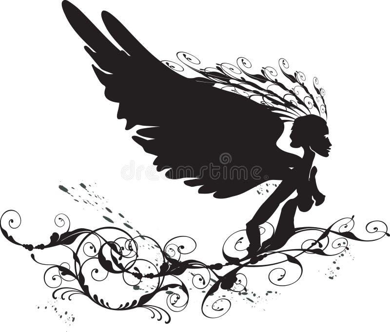Schwarzer Engel stock abbildung