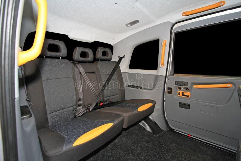 Schwarzer Fahrerhaus-Innenraum stockbilder