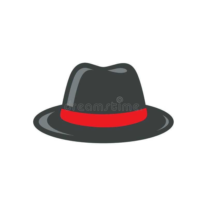 Schwarzer Fedora Hat Illustration stock abbildung