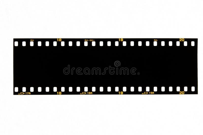Schwarzer Filmstreifen lizenzfreie stockfotografie
