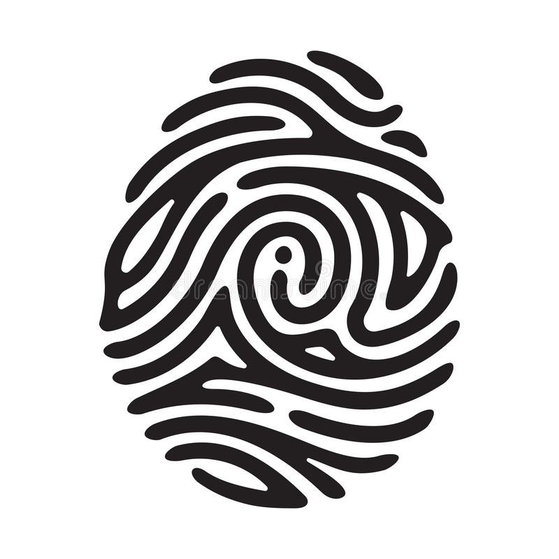 Schwarzer Fingerabdruck vektor abbildung