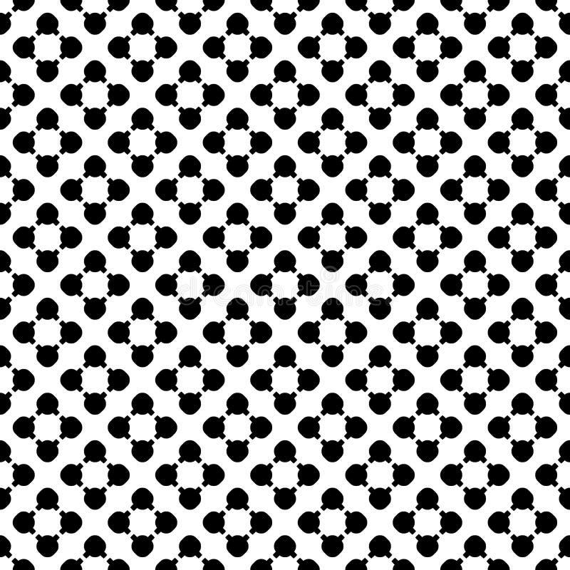 Schwarzer Flourish stellt auf wei?em Hintergrund, Kreisen u. Linien, diagonale Reihe dar vektor abbildung