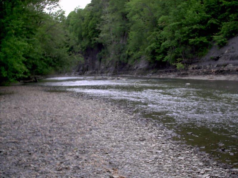 Schwarzer Fluss in Elyria, Ohio lizenzfreies stockbild
