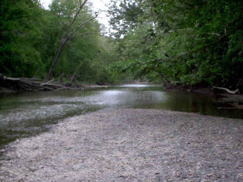Schwarzer Fluss in Elyria, Ohio stockbilder