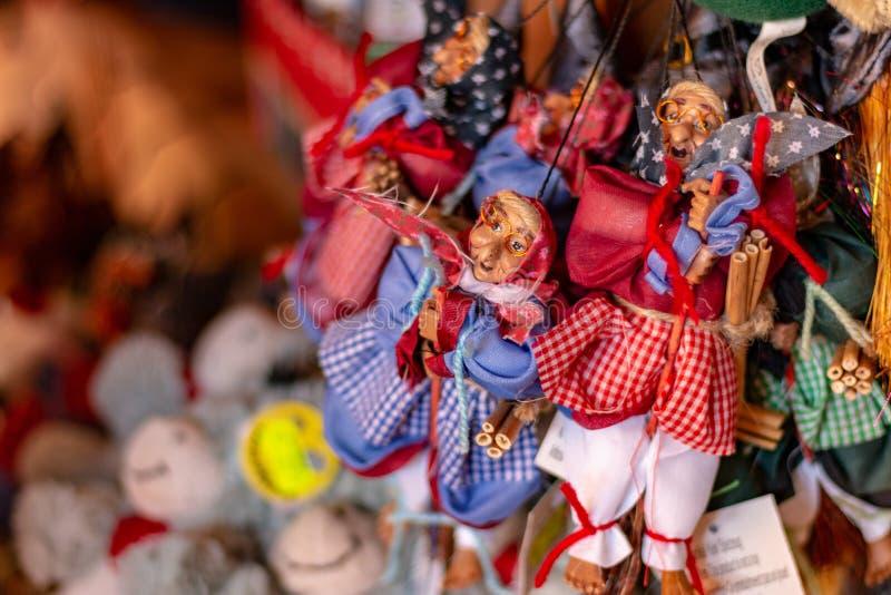 Schwarzer Forest Witch Dolls Souvenirs stockbilder